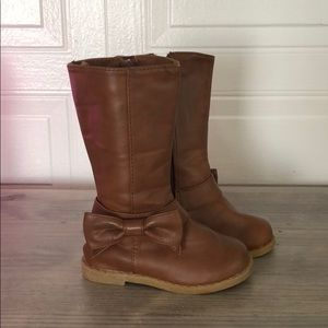 Adorable Gap Brown Knee High Boots w Bows! Size 5!